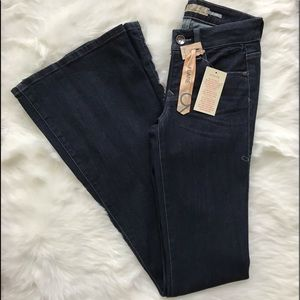 NWT Level 99 Anthropologie Flare leg stretch jeans